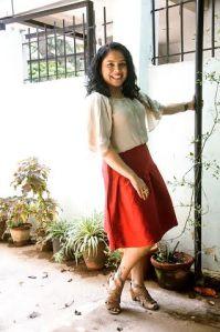 red skirt -1